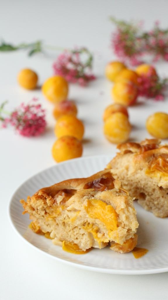 gâteau amande mirabelle healthy et sans lactose. Gâteau de saison, simple et rapide